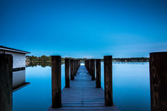 Florida Virginia Lake at Night Stock Image