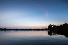 Florida Virginia Lake at Night Royalty Free Stock Photography