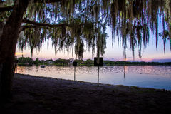 Florida Virginia Lake at Night Stock Photos