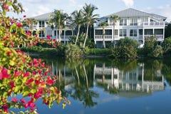 Florida waterfront community Stock Image