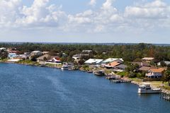 Florida Waterfront Homes Royalty Free Stock Image