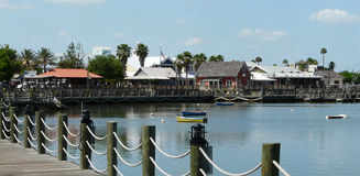 Florida Waterfront Shopping Royalty Free Stock Photos