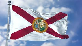 Florida Waving Flag stock photography