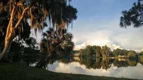 Florida Wildlife Preserve. Nature, park, shoreline, sunset, lake Royalty Free Stock Photo