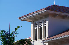 Floridian architecture. Generic building in florida with three windows Stock Photo