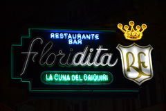 Floridita neon sign Royalty Free Stock Photography