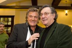 Florin Piersic and Ion Caramitru Royalty Free Stock Image