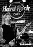 Florin Tibu Crivat av Bucobina som spelar på Hardet Rock Cafe Royaltyfri Bild