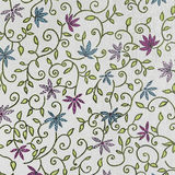 Florish paper background. Flowers and leaves stock illustration