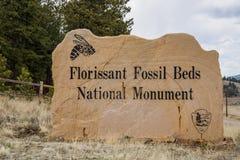 Florissant Skamieniałych łóżek Krajowy zabytek Fotografia Stock