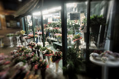 Florist's stands Royalty Free Stock Photography