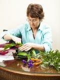 Florist At Work Stock Photography