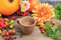 Florist At Work. How To Make Autumn Floral Decorations. Tutorial Stock Photos