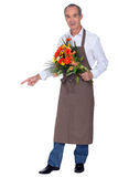 Florist with bouquet Royalty Free Stock Photography