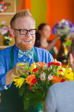 Florist and Customer Stock Photo