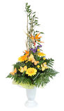 Florist designed bouquet, gerbera flowers and pale yellow orchid Stock Image