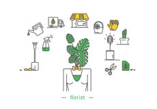 Florist icon Royalty Free Stock Photography