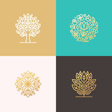 Florist and landscape designers logos Stock Photography