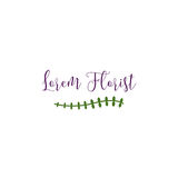 Florist Logo Template. Clean background for every presentation, high resolution, perfect detail work. Logo Template, can be customized in the EPS file. free font Stock Image