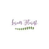 Florist Logo Template Stock Image