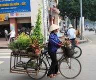 Free Florist On Wheels Royalty Free Stock Photos - 174118448