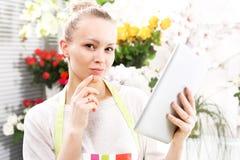 Florist online. Royalty Free Stock Photos