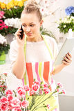 Florist online. Stock Photography