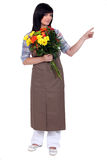 Florist pointing Stock Image