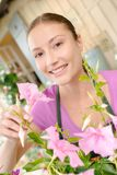 Florist runs own boutique Royalty Free Stock Photography