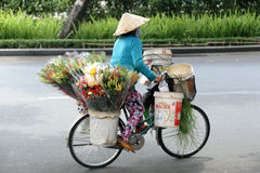 A florist's bike Royalty Free Stock Photos