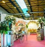 Florist at Salon du Marriage wedding fair France Stock Photos