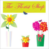Florist Shop Flowers royalty free illustration