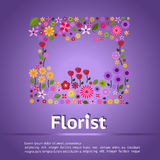 Florist shop infographic banner background template layout desig Stock Image