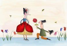 Florist shop representative poster. Artistic work. Watercolors on paper Stock Photo