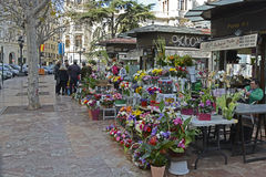 Florist shop in Valencia, Spain Stock Images