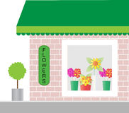 Florist Shop Window Royalty Free Stock Photo