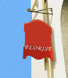 Florist sign. Royalty Free Stock Photography