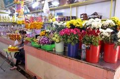 Florist stall at Banzaan Market in Patong. Banzaan Market is a covered market in Patong, Phuket, Thailand Royalty Free Stock Photo