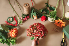 Florist tools and accessories Royalty Free Stock Photo