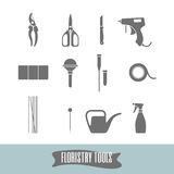 Florist tools. Basic set to work with flowers. royalty free illustration