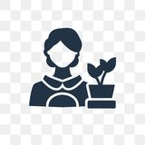 Florist vector icon isolated on transparent background, Florist vector illustration