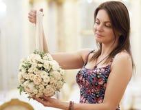 Florist woman royalty free stock photography