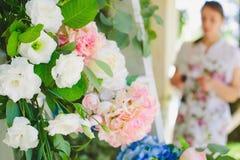 Florist woman at work Royalty Free Stock Image