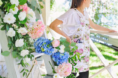 Florist woman at work Royalty Free Stock Photography