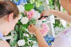 Florist woman at work Royalty Free Stock Photo