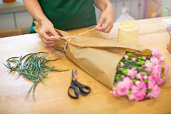 Florist at work Stock Photos