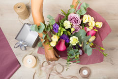 Florist at work Royalty Free Stock Images