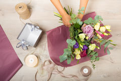 Florist at work Stock Photography