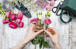 Florist at work Royalty Free Stock Photos