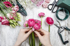 Florist at work Royalty Free Stock Photo